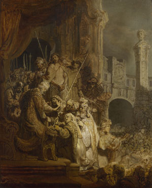 Rembrandt Jesus before Pilate